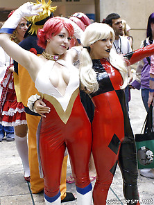 Two Cosplay Babes Who Could Launch An Attack On My Cock Whenever