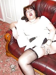 Milf White Skirt Heels Blouse
