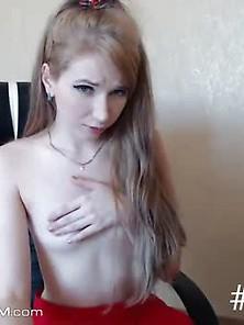 Sensual Small Tits Teen Fucking Self On Cam