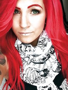 Nancy Mietziii Hot Red Head Tattoo Babe
