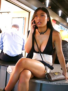 Hot Asian In Bus