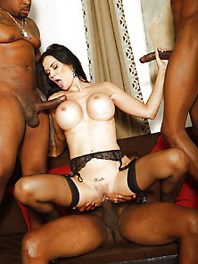 Jasmine Jae Interracial Gangbang Big Black Cocks
