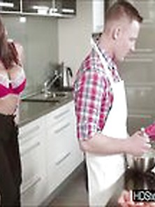 Sensual Stepmom Jane Fucked Her Stepdaugters Bf N The Kitchen