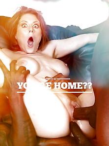 Captions Interracial Cuckold Hotwife Queen Of Spades 2