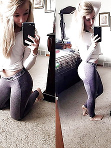 Blonde Gym Babe With Amazing Ass