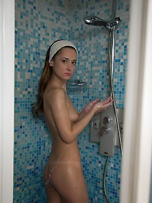 After Shower Fragile Russian Teen Is Analyzed By Her Impudent Bo
