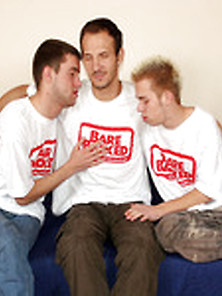 Three Gays Sharing Each Other And Having Bareback Sex