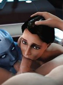 Liara And Ashley Co-Op Blowjob Lt Lee