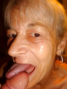 Cock granny sucks Swallow