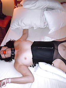 Mature Brunette Wife Blindfolded Hotel Room Sex Bd