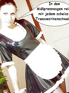 Sexy Latex Maid Ludr Crush Scheiss Transvestitenschweine Totpres